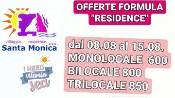 OFFERTE LUGLIO RESIDENCE
